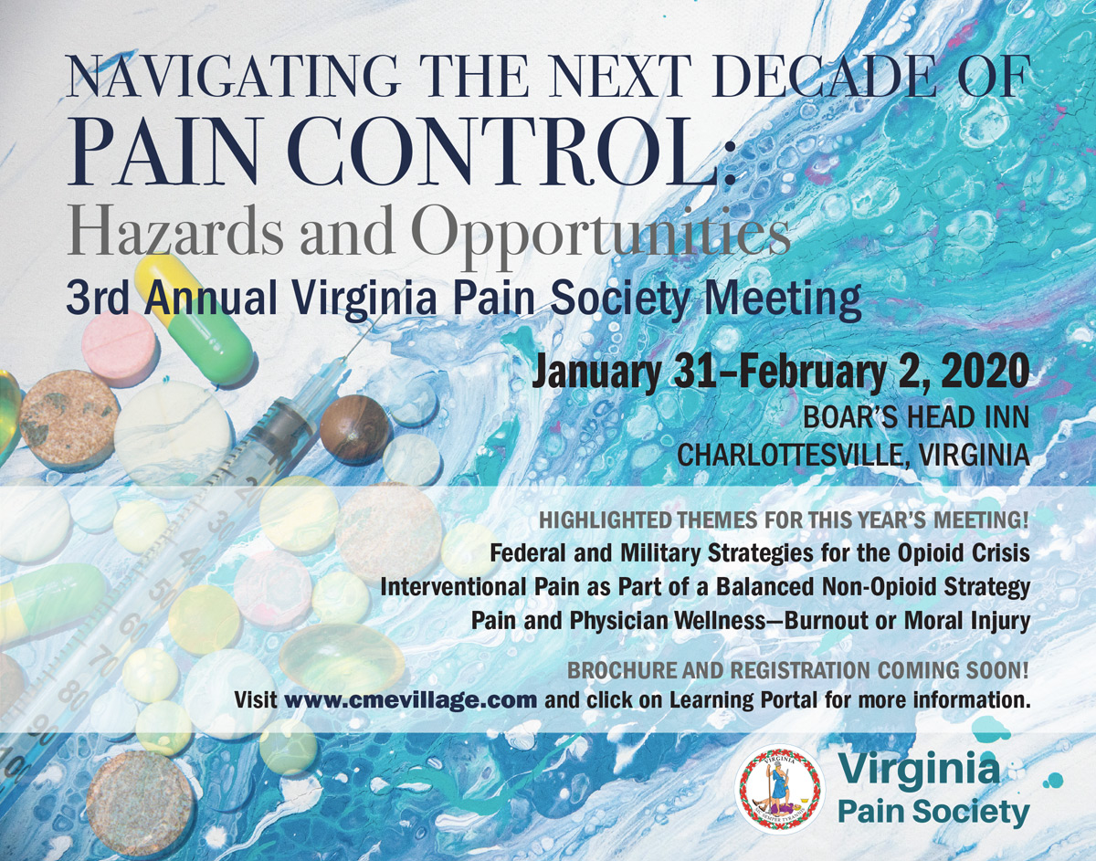 Save Date VA Pain Society 3rd Annual Event: Jan 31- Feb 1, 2020